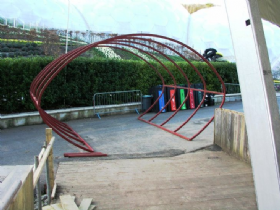 steel entrance tunnel framework